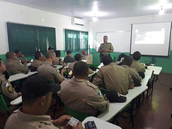 4ª CIPM E guardas civis municipais recebem treinamento sobre atuação no trânsito em Lagoa da Confusão