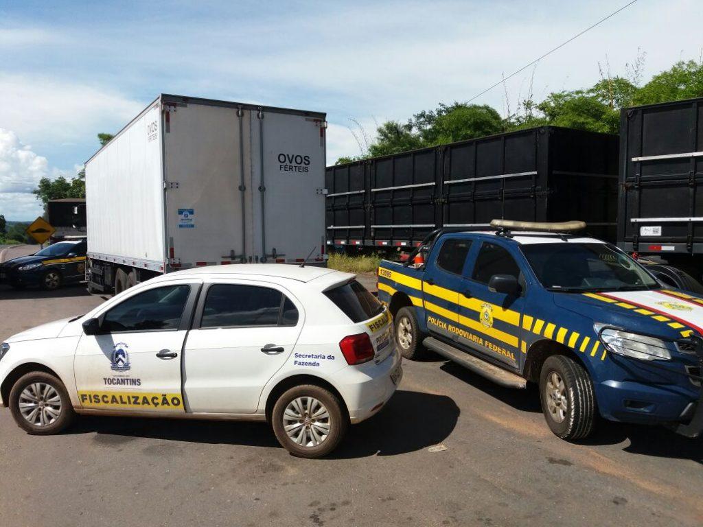 PRF Guaraí apreende mais de 21 mil ovos sem documento fiscal