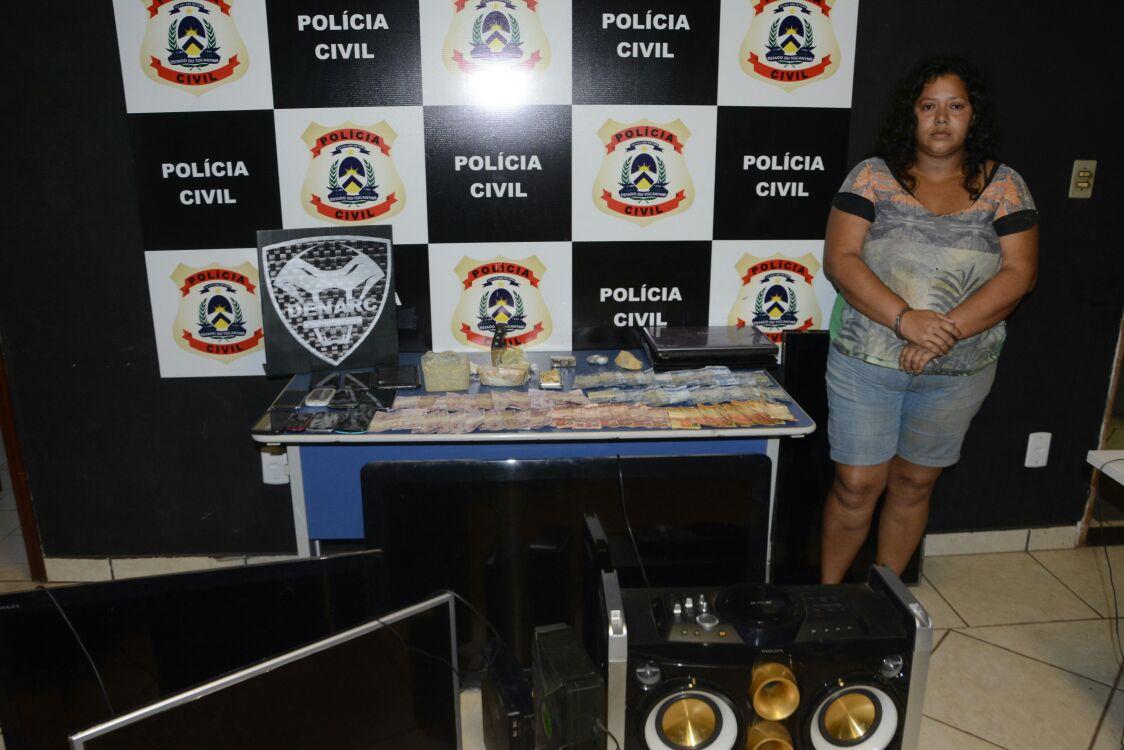 Polícia Civil prende mãe e filha suspeitas de comandar uma das bocas de fumo mais movimentadas de Palmas