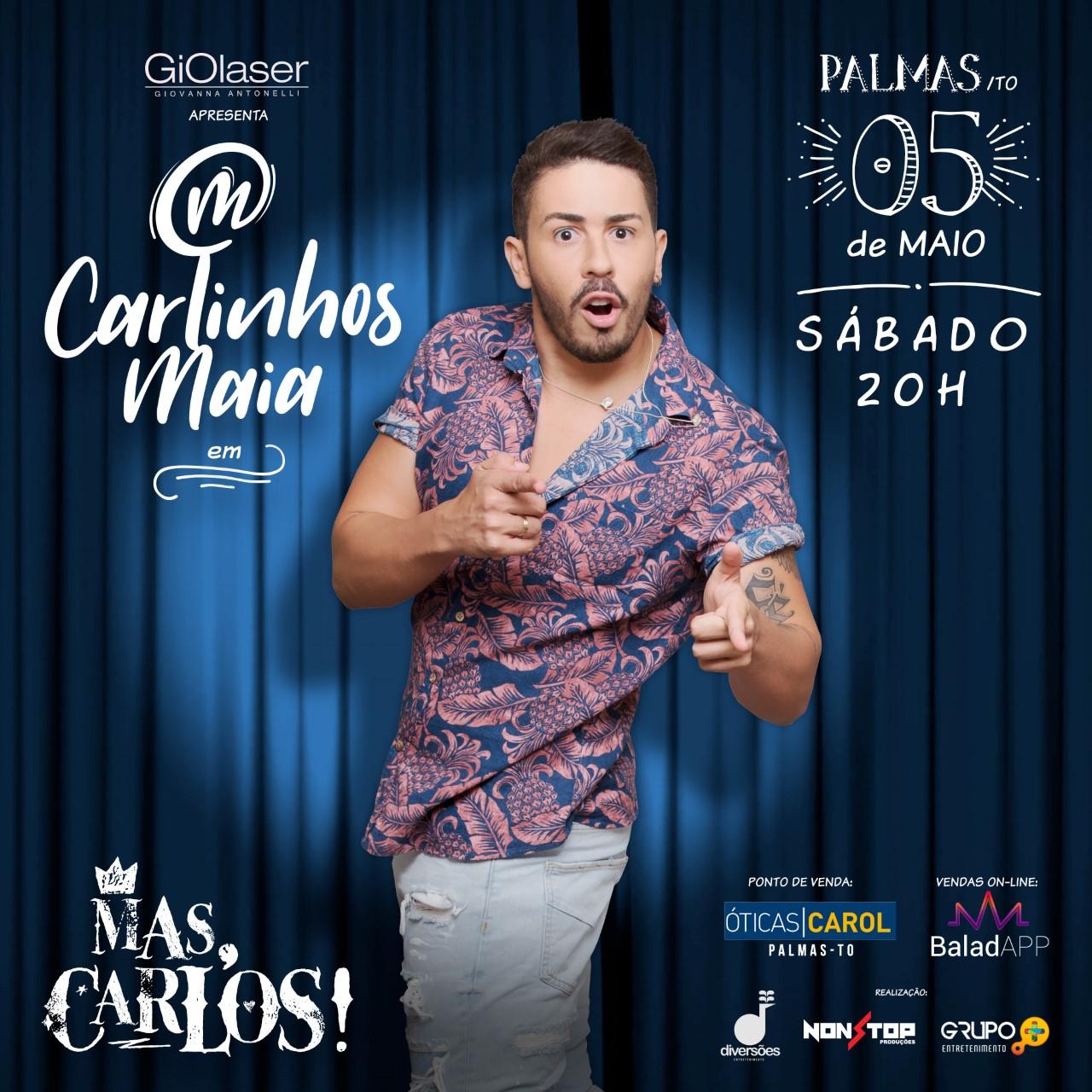"""""""Mas, Carlos!"""", novo espetáculo de Carlinhos Maia, será apresentado em maio, em Palmas"""