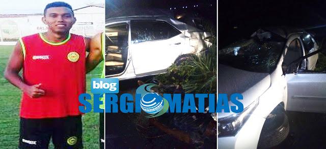 Acidente na BR-316, com jogadores de Bacabal (MA) deixa dois mortos e feridos
