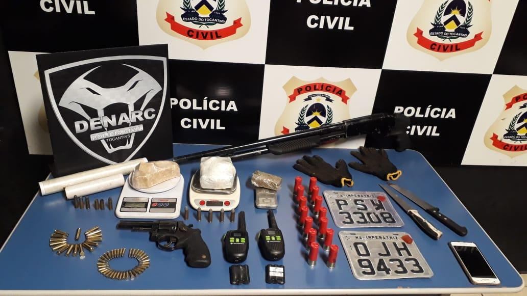 Polícia Civil deflagra operação contra a criminalidade e apreende armas e drogas em Palmas