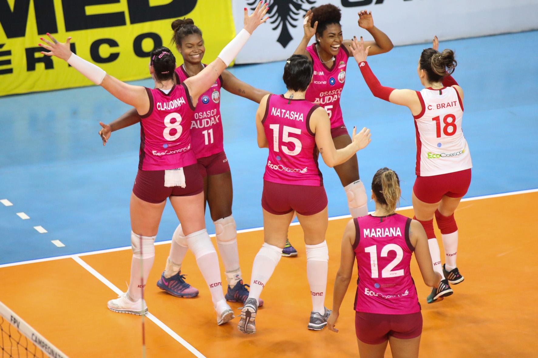 Vôlei Osasco-Audax inicia semifinal contra o Pinheiros nesta quarta-feira (30)