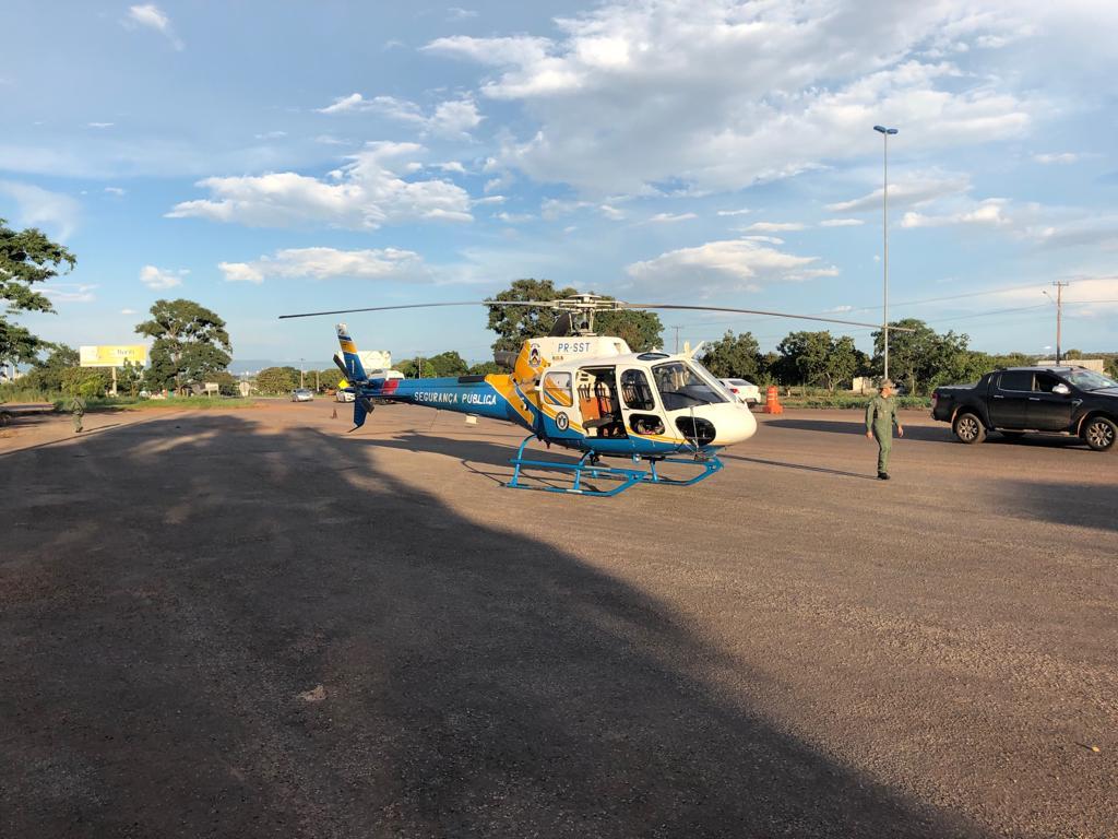 Unidade aérea do Ciopaer auxilia patrulhamento em rodovias do Tocantins