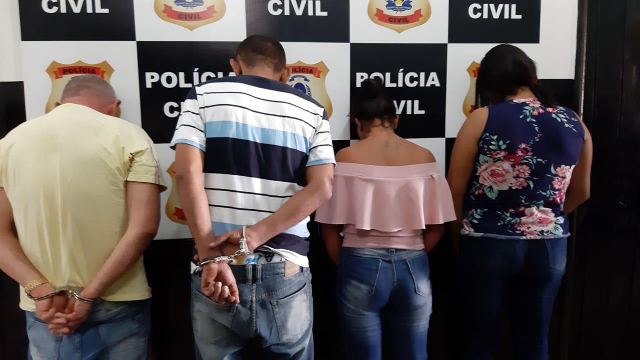 Polícia Civil prende no Bico do Papagaio quatro pessoas suspeitas de aplicar golpes em aposentados