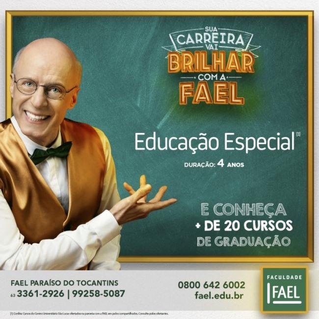 FAEL Paraíso do Tocantins inicia oferta de graduação em Educação Especial