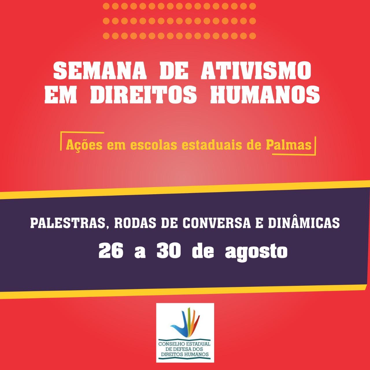 Cidadania e Justiça apoia a realização da Semana de Ativismo em Direitos Humanos em escolas da capital