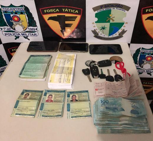 Em Araguatins, casal e filho são presos pela PM com mandado de prisão expedido pela justiça federal no Pará