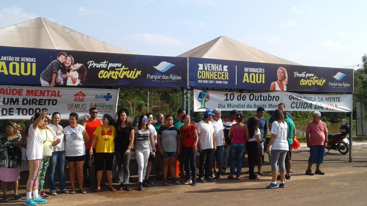 Paraíso do Tocantins: ações do Outubro Rosa e Dia Mundial da Saúde Mental são realizados no Parque das Águas