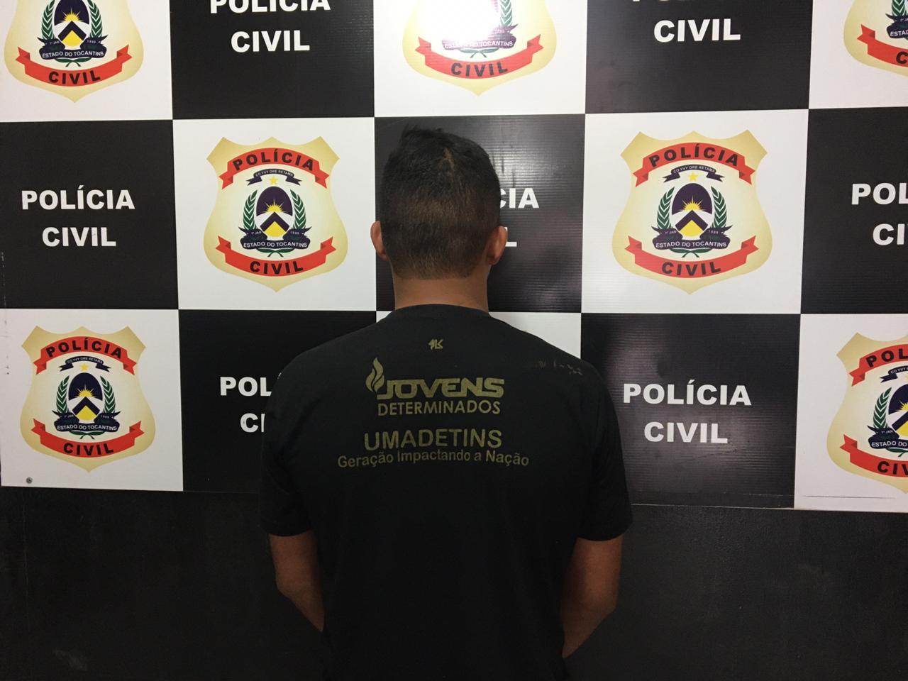 Suspeito de roubo é preso pela Polícia Civil em Aurora do Tocantins