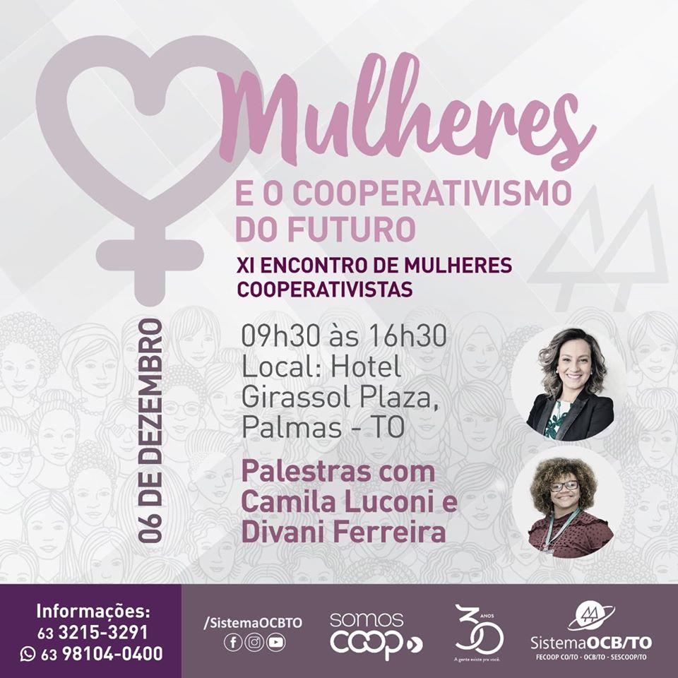 XI Encontro de Mulheres Cooperativistas acontece nesta sexta-feira, 6, em Palmas