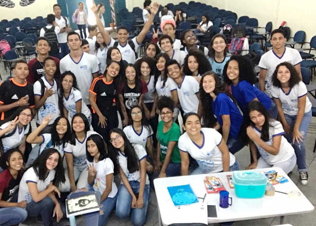 Jovens protagonistas preparam o acolhimento para alunos da Escola Jovem em Ação no Tocantins