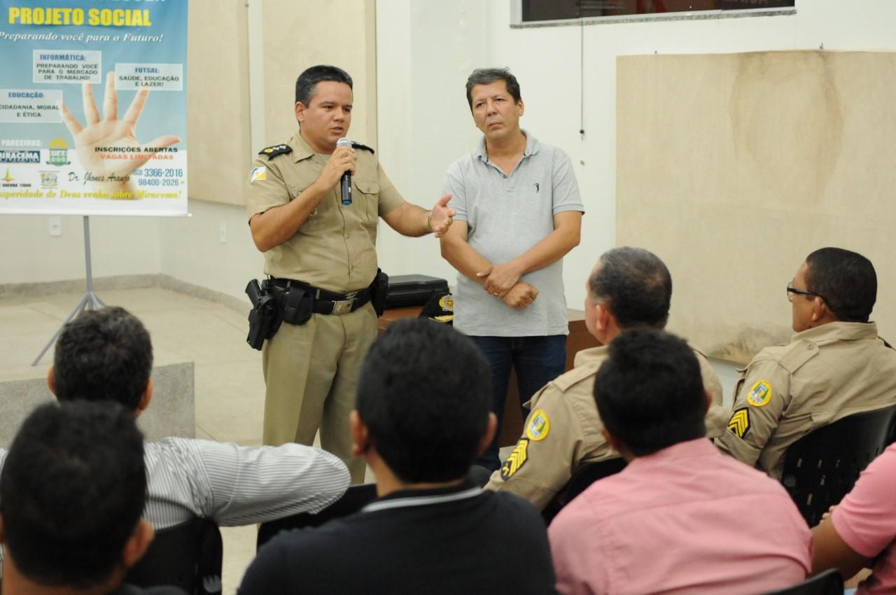 Prefeitura de Miracema e Conseg promovem roda de sugestões sobre segurança pública