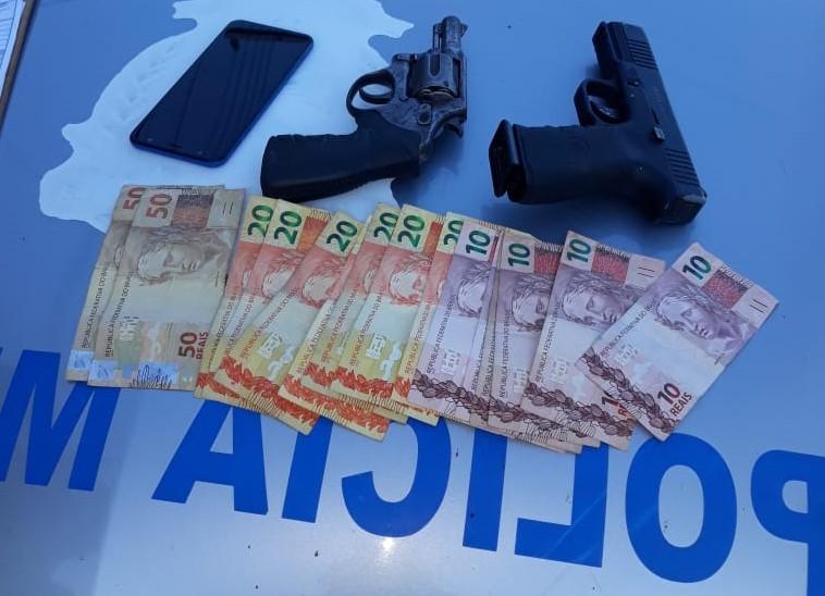 Polícia Militar prende ladrão e apreende arma de fogo em Paraíso