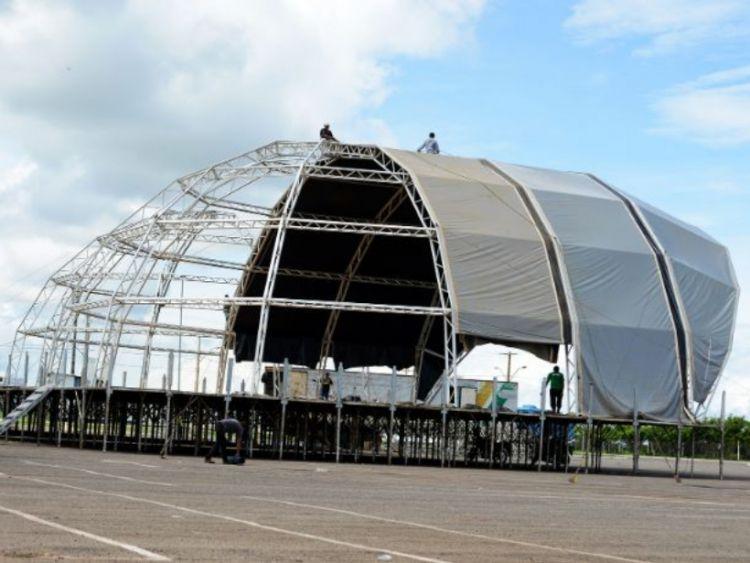 Estrutura do Capital da Fé 2020 começa a ser montada na Vila Olímpica