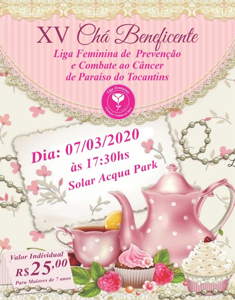 Liga Feminina de Prevenção e Combate ao Câncer de Paraíso promoverá Chá Beneficente e pede ajuda da comunidade