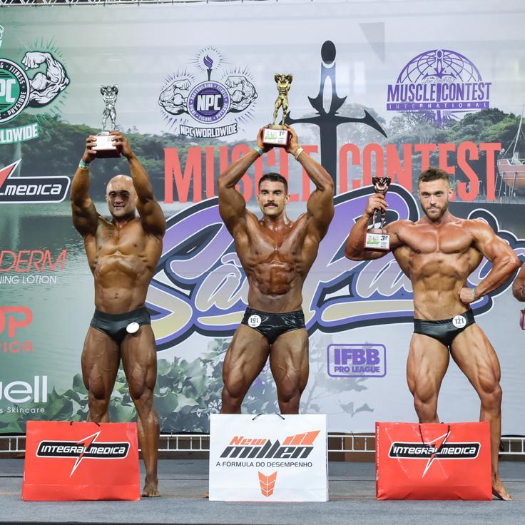 Sem público, Eduardo Machado fatura o 2º lugar na Muscle Contest International