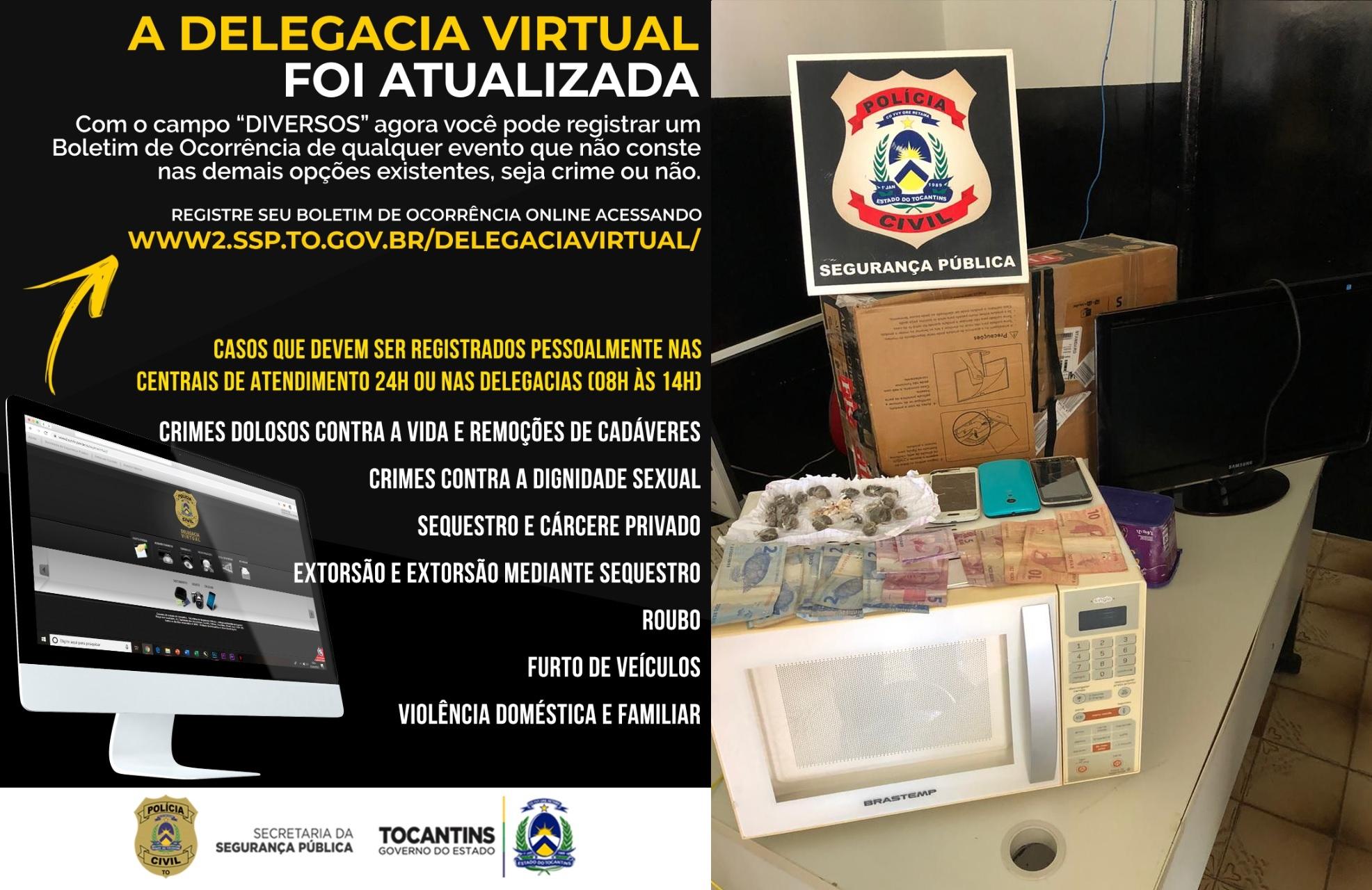 Polícia Civil prende homens após registro de Boletim de Ocorrência na Delegacia Virtual em Araguatins