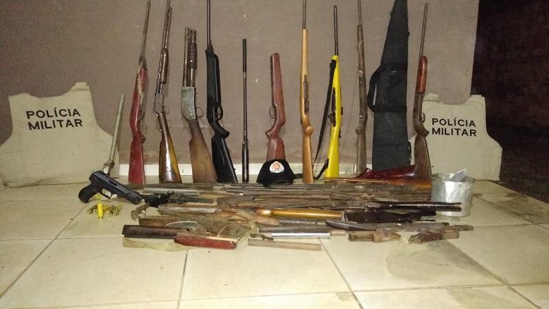 Várias armas de fogo são apreendidas pela PM em Dois Irmãos