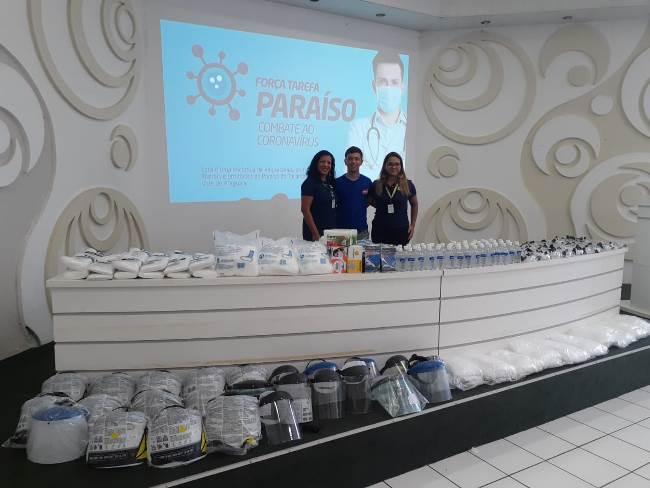 Empresa frigorífica faz doação de EPI's para Força Tarefa Paraíso contra a Covid-19