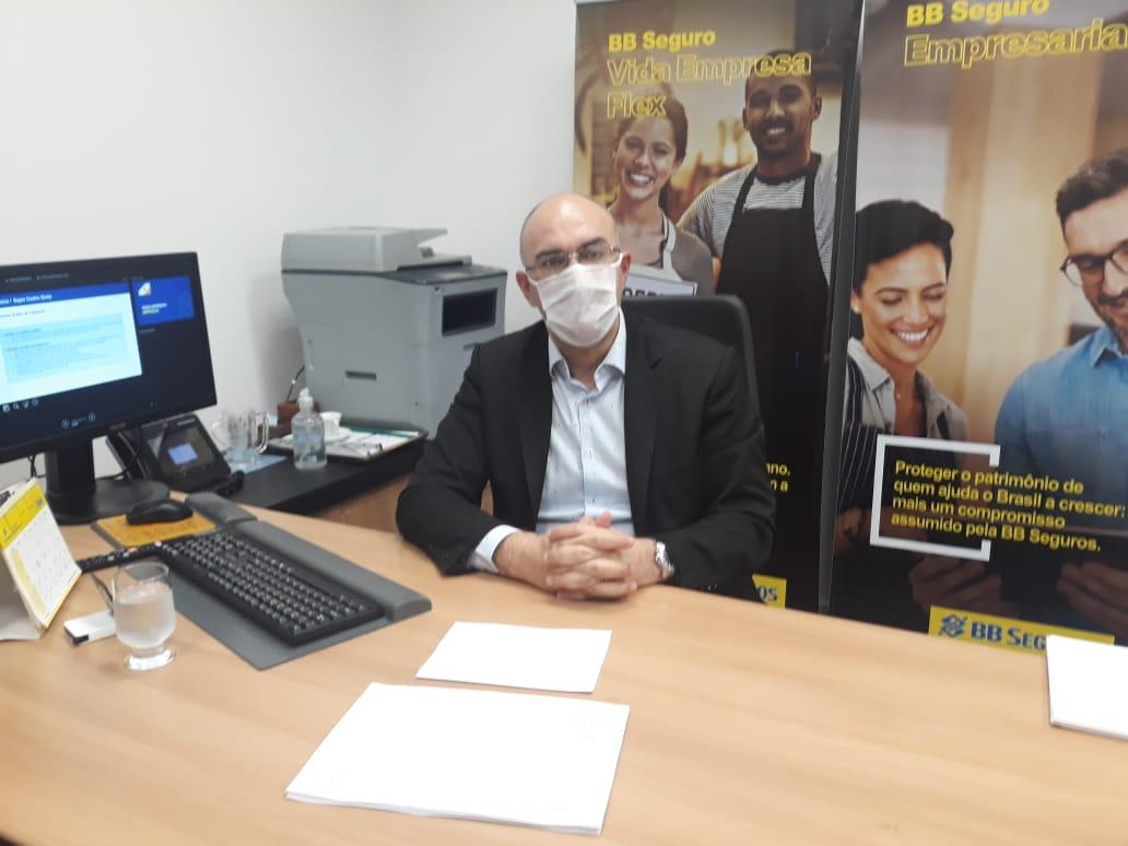 Indústria e Comércio trata com Banco do Brasil sobre linhas especiais de crédito para atender classe empresarial em decorrência da pandemia