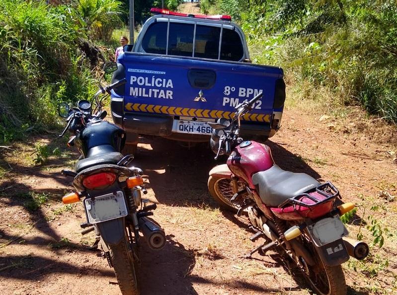 Duas motos roubadas são recuperadas pela Polícia Militar em Paraíso
