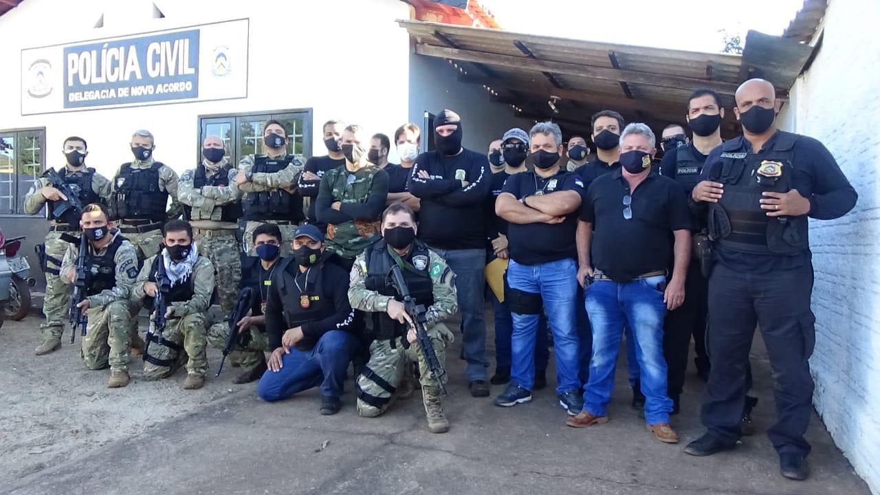 Operação contra criminalidade cumpre oito mandados de busca e apreensão em Novo Acordo