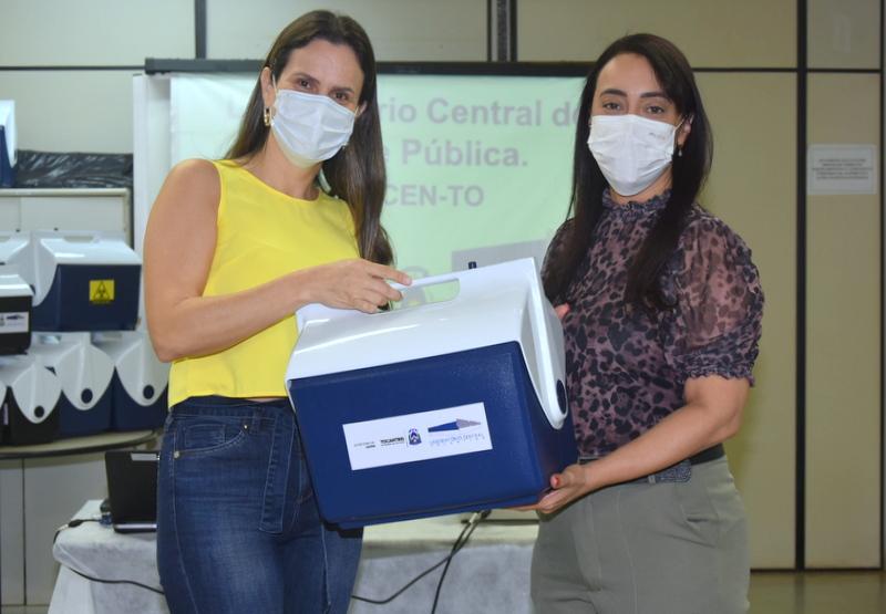 Laboratório Central do Tocantins entrega caixas térmicas para municípios transportarem amostras