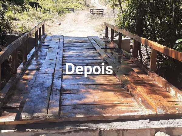 Prefeitura de Barrolândia conclui reforma de ponte sobre o córrego Grotão