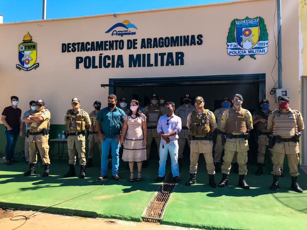 Polícia Militar e Prefeitura de Aragominas inauguram destacamento