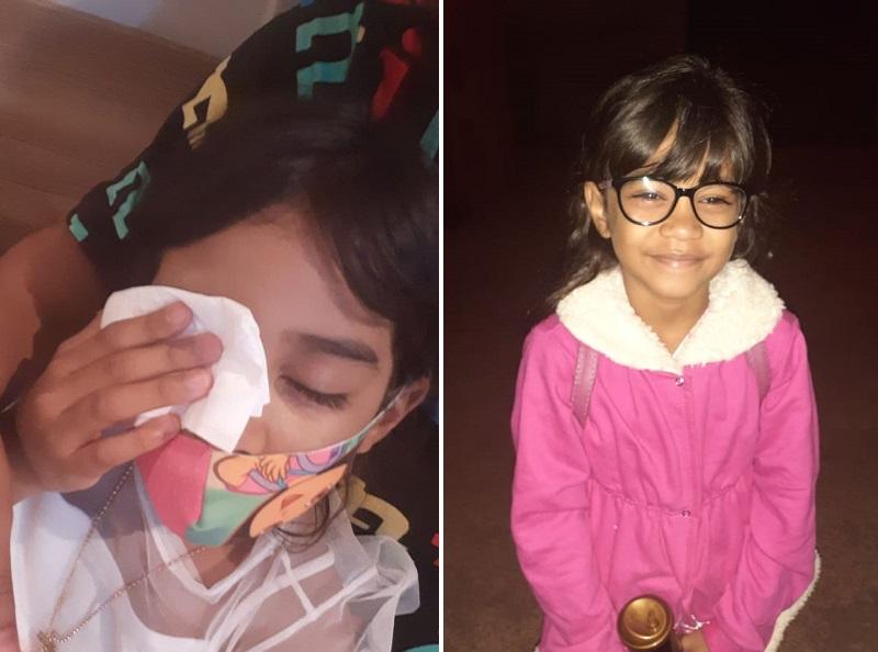 Menina que sofreu acidente há 7 anos, entre Paraíso e Pugmil, busca ajuda para tratamento ocular
