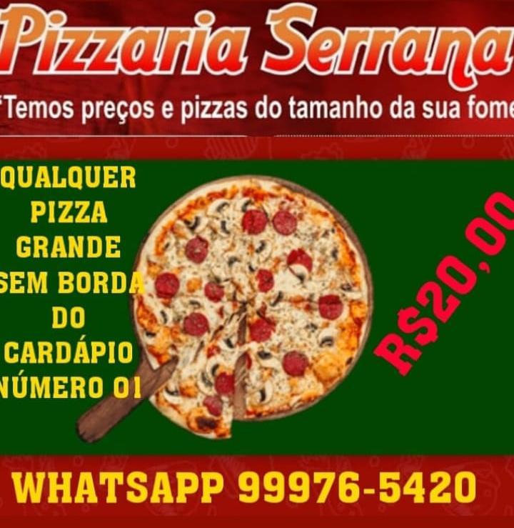 Aproveite a promoção! Pizzaria Serrana tem pizza grande pelo melhor preço de Paraíso