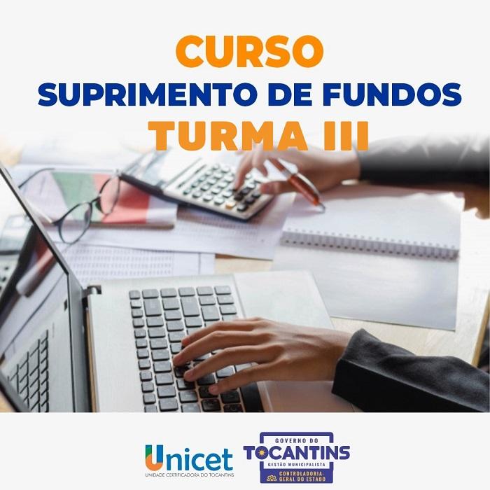 Ciclo de capacitação em suprimento de fundos encerra com aulas nesta quinta-feira, 17