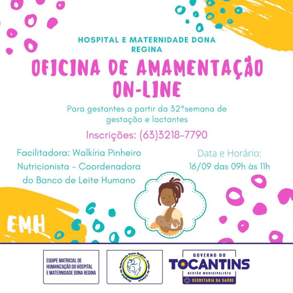 Saúde promove oficina on-line sobre amamentação