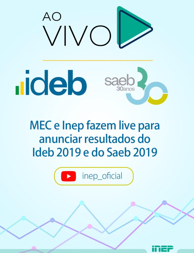 Inep e MEC apresentam resultado do Ideb e do Saeb 2019; Assista ao vivo