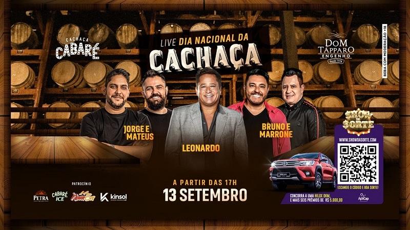 """Ao vivo: Confira live show """"Cabaré"""" com Leonardo, Jorge & Mateus e Bruno & Marrone"""