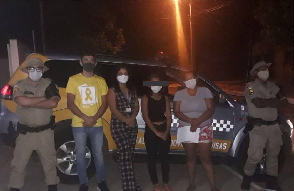 Polícia Militar localiza garota de 12 anos que havia fugido de casa em Guaraí