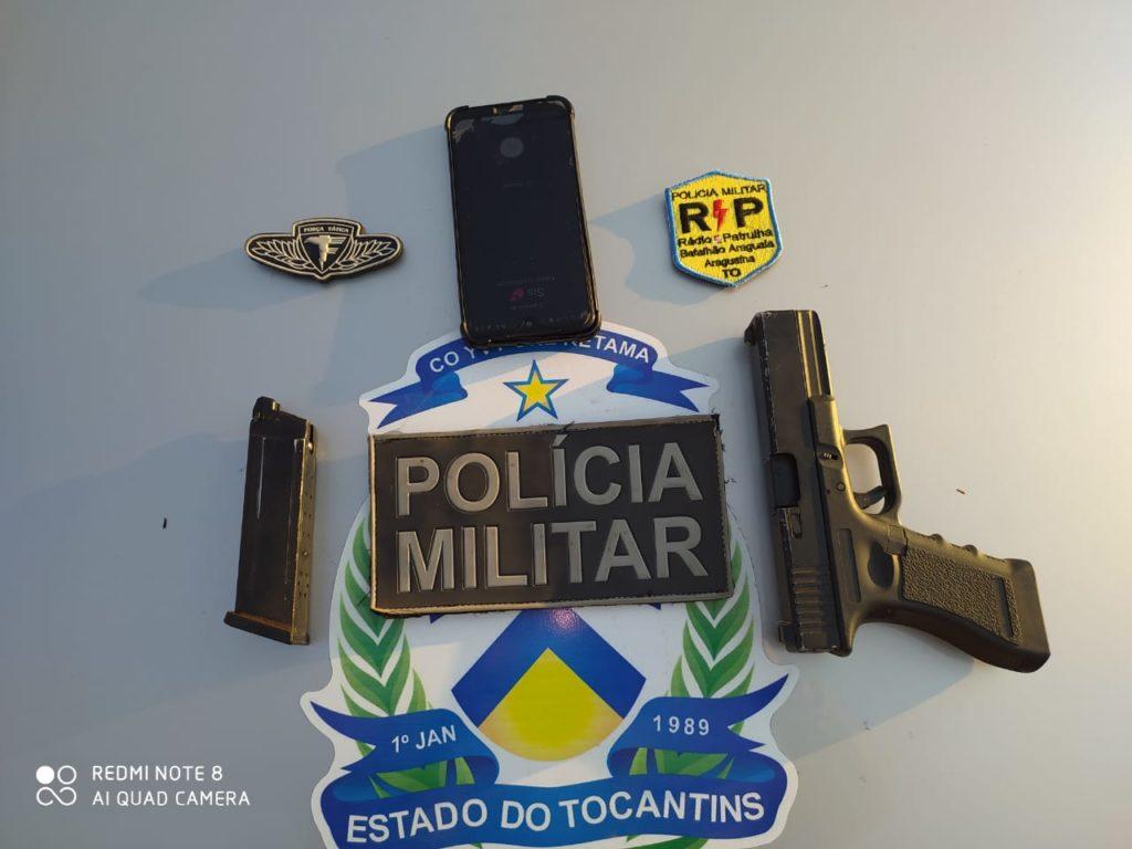 PM prende dois homens por porte ilegal de arma de fogo em Araguaína