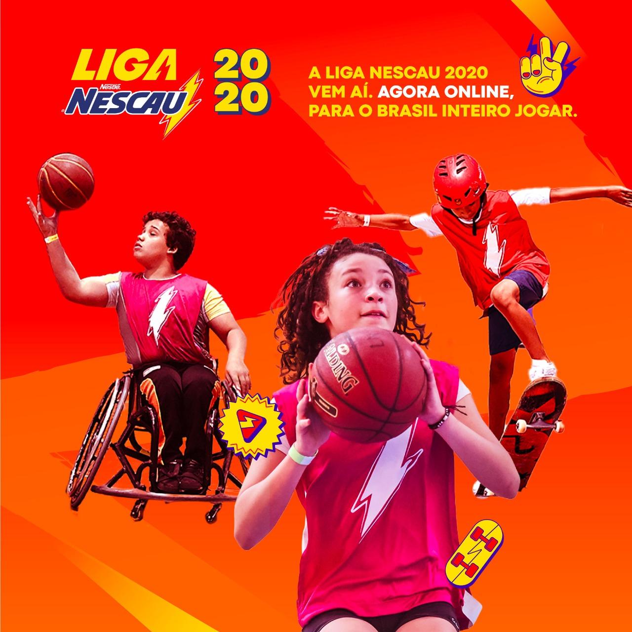 Liga NESCAU agora é digital e abre inscrições para edição de 2020
