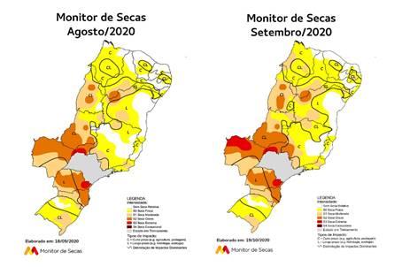 Monitor de Secas registra seca em 100% de Tocantins em setembro