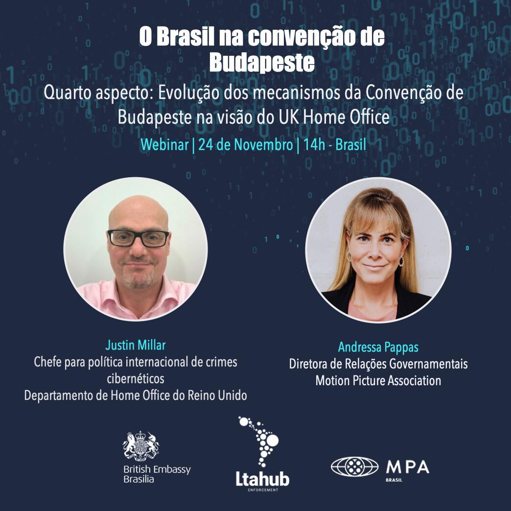 Reino Unido e EUA falam sobre entrada do Brasil na Convenção de Budapeste