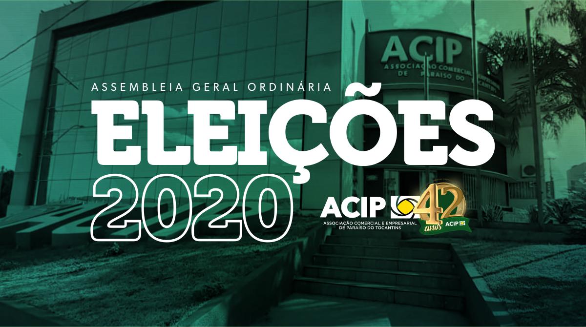 Comissão Eleitoral divulga data e prazos para as Eleições da ACIP