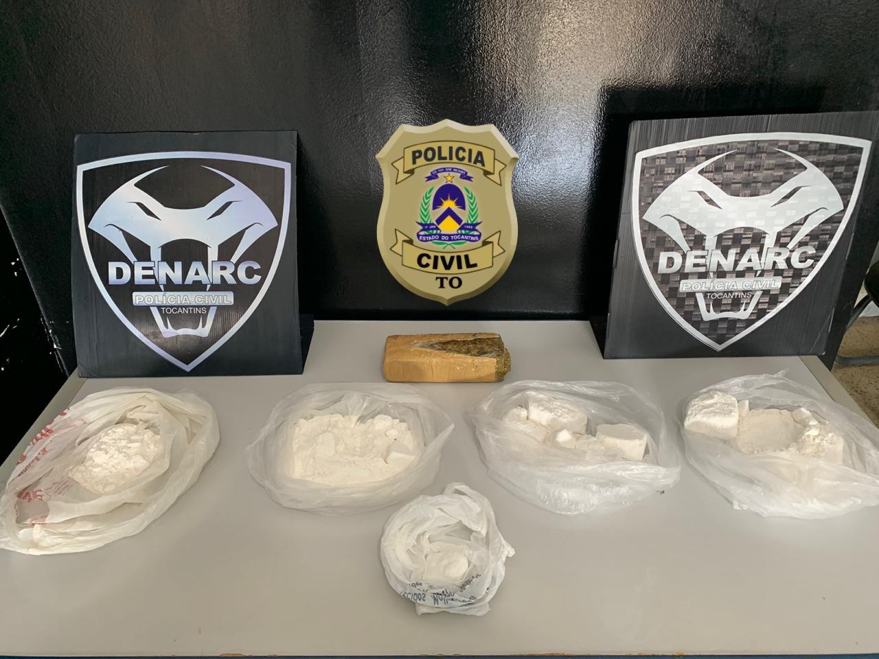 Denarc apreende 1,5 kg de cocaína pura e maconha em Palmas e prende homem ligado a facção nacional