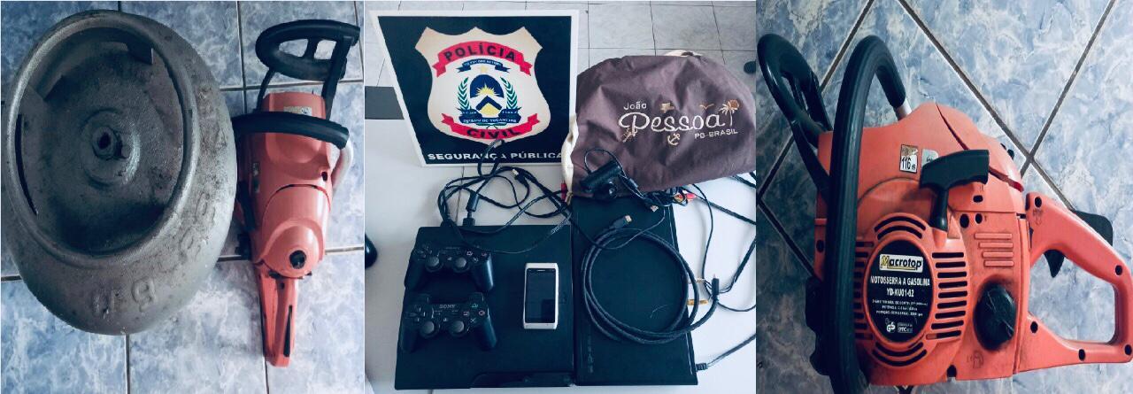Polícia Civil desvenda dois crimes contra o patrimônio e recupera objetos furtados em Itacajá