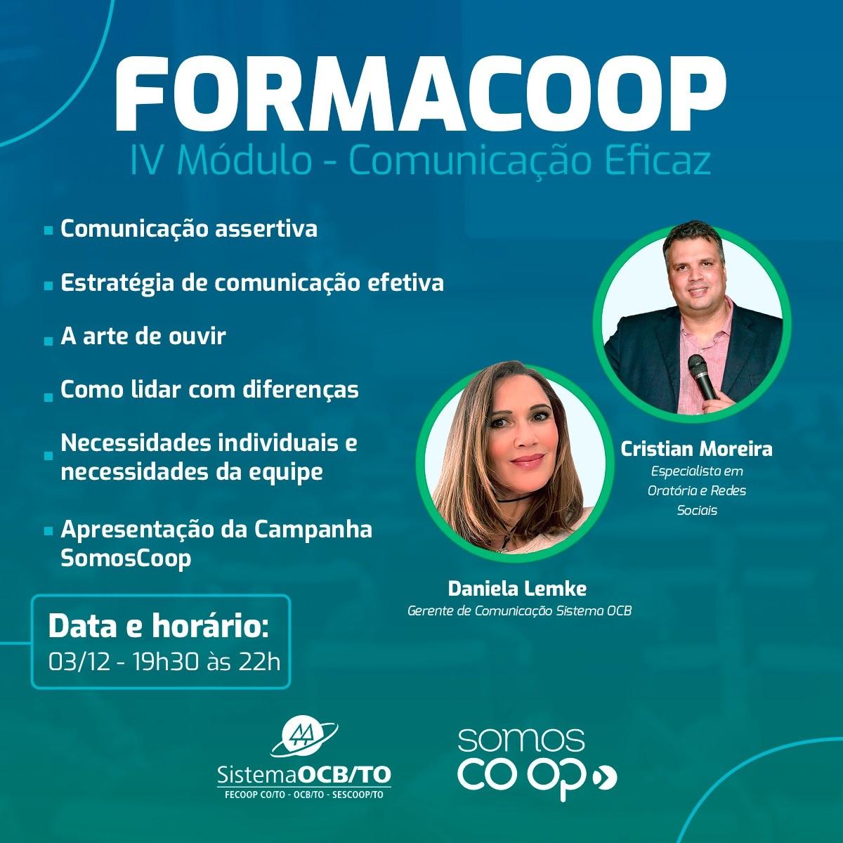 Sistema OCB/TO: FormaCoop fecha série de eventos de 2020