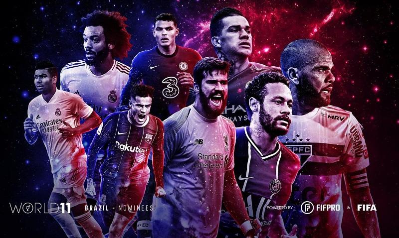 Brasil tem 10 atletas indicados às seleções mundiais masculina e feminina
