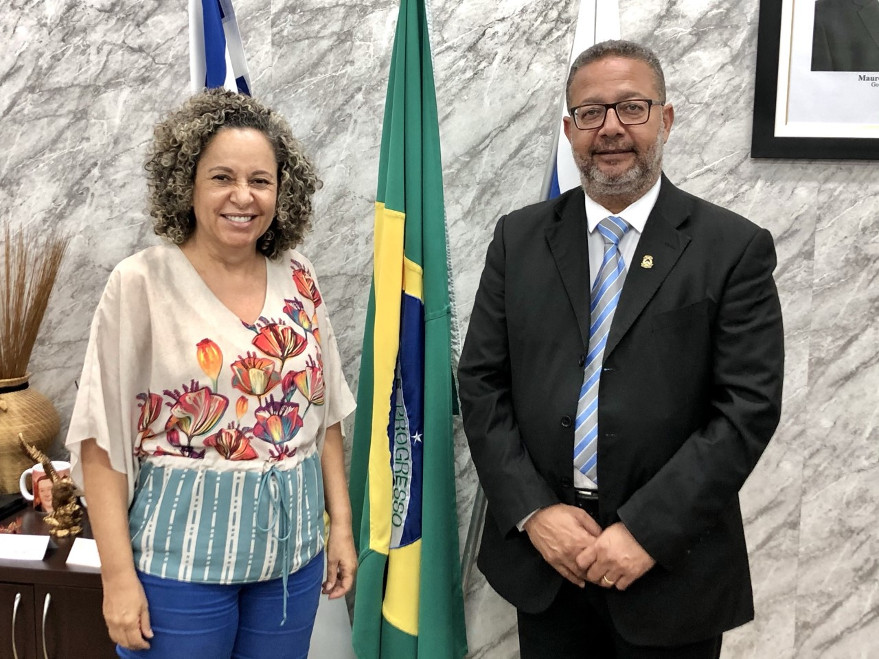 Secretário Tom Lyra recebe prefeita eleita em Gurupi, Josi Nunes