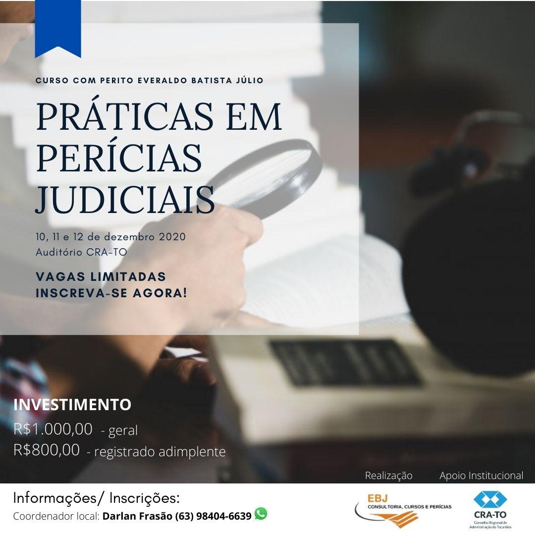 Profissionais do Tocantins tem oportunidade de qualificação com Curso de Pratica para Perito Judicial