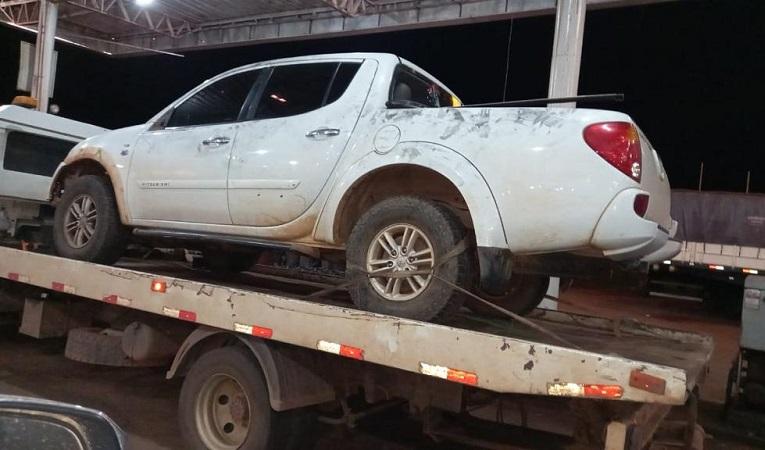 Polícia Militar recupera em Paraíso caminhonete roubada em Miranorte