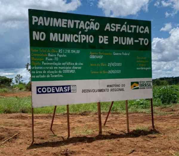 Cidade de Pium recebe nova obra de pavimentação asfáltica